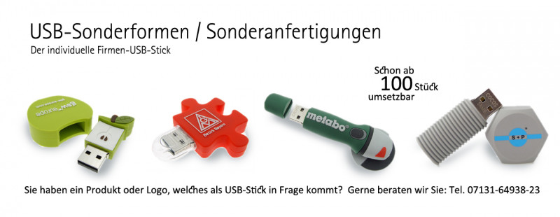 USB-Stick Sonderanfertigungen