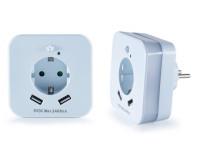 LED-Nachtlicht-Steckdose mit zwei USB-Anschlüssen