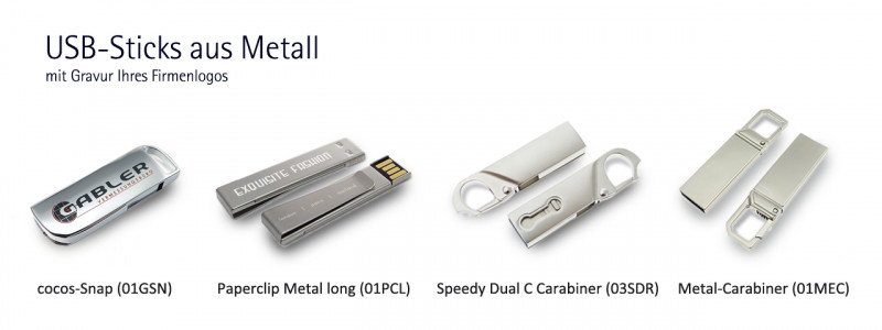 USB-Sticks aus Metall