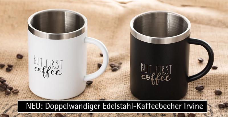 Doppelwandiger Edelstahl-Kaffeebecher