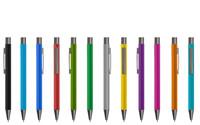 Trendiger Softtouch-Kugelschreiber (28GUM)