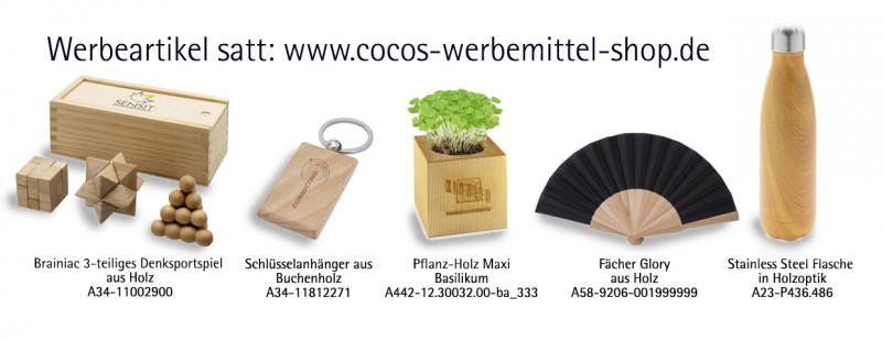 Shop-Werbeartikel aus Holz