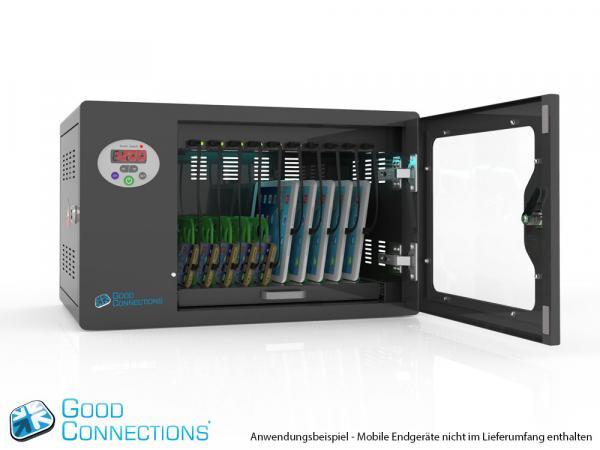 Tablet-Ladewagen/ Ladeschrank für bis zu 10 Geräte - inkl. UV-C Desinfektion und Smart Control
