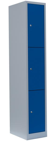 Schließfachschrank - 1 Abteil - 3 Fächer - 1800x315x500 mm (HxBxT)