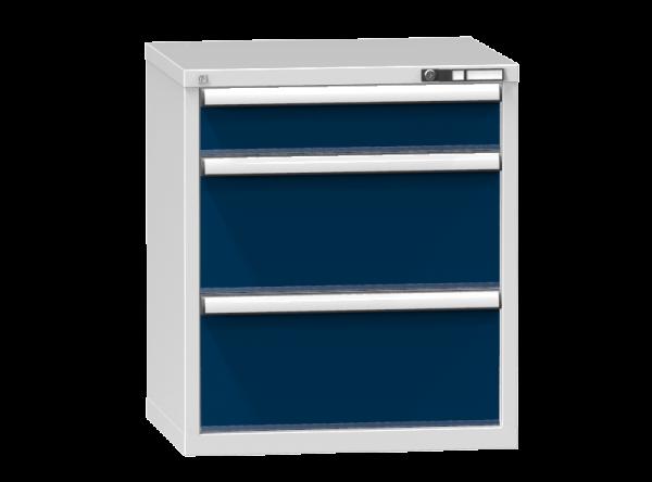 Schubladenschrank - Standcontainer - 1+2 Schublade - 840x731x600 mm (HxBxT)