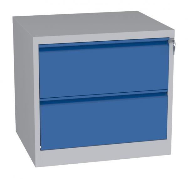Karteischrank - 2 Schubladen - 710x770x630 mm (HxBxT) - Hängeregister A4 - waagerecht - 2 Reihen