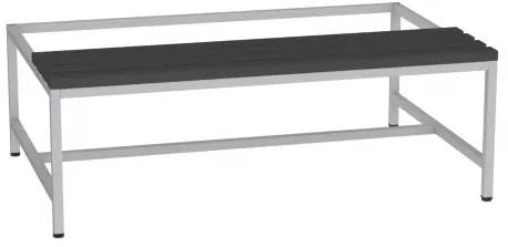 Sitzbank mit Kunststofflatten - zum Schrank SU400/3 - 395x1200x770 mm (HxBxT)