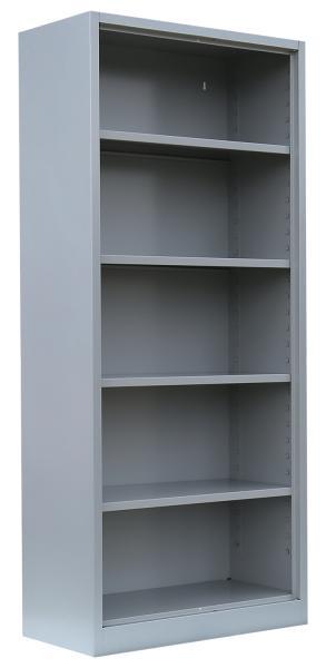 Aktenregal, Büroregal - 1800x800x383 mm (HxBxT) - lichtgrau