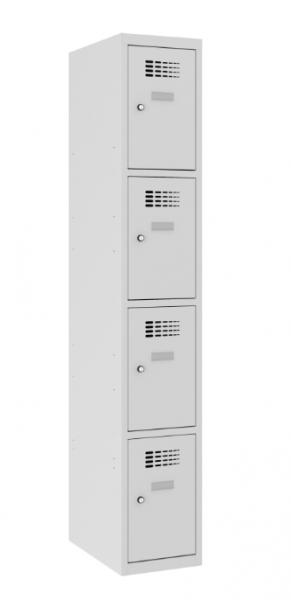 Schließfachschrank - 1 Abteil - 4 Fächer - 1800x400x500 mm (HxBxT)