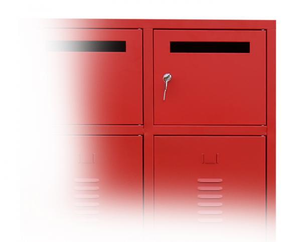 Wertfachtür inkl. Zylinderschloss mit 2 Schlüsseln - für Feuerwehrschrank - feuerrot