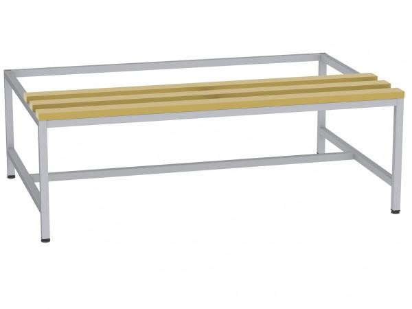 Sitzbank mit Holzlatten - zum Schrank SU400/3 - 395x1200x770 mm (HxBxT)