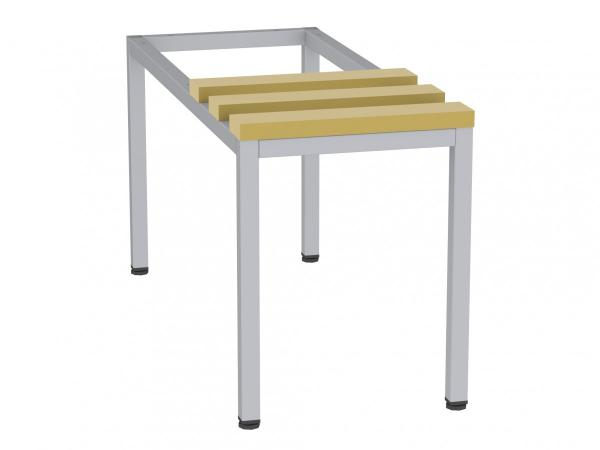 Sitzbank mit Holzlatten - zum Schrank SU300/1 - 395x320x770 mm (HxBxT)