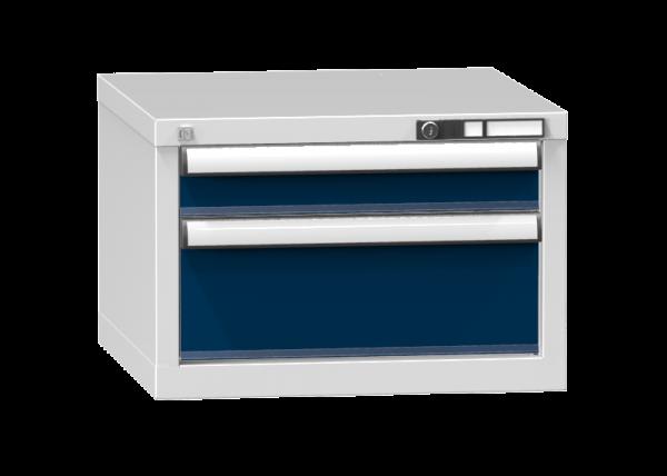 Schubladenschrank - Standcontainer - 1+1 Schublade - 390x578x600 mm (HxBxT)