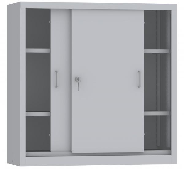 Schiebetürenschrank - 2 Einlegeböden - 1000x1000x600 mm (HxBxT)
