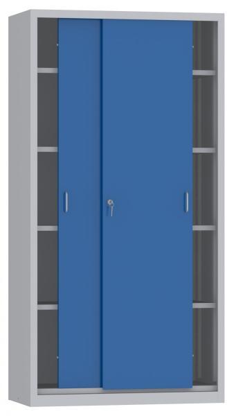 Schiebetürenschrank - 4 Einlegeböden - 1950x1000x400 mm (HxBxT)