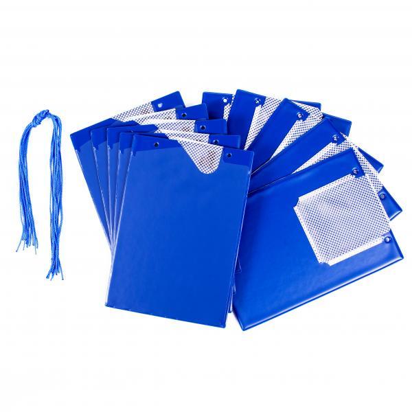 FÖRCH 10er Set Auftragstaschen Werkstattmappen A4 blau