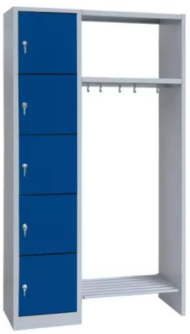 offene Garderobe - 5 Fächer - 1800x1115x500 mm (HxBxT)