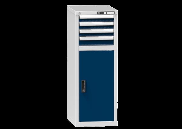 Schubladenschrank - Standcontainer - 3+1 Schublade, 1x Tür 800mm - 1215x442x600 mm (HxBxT)