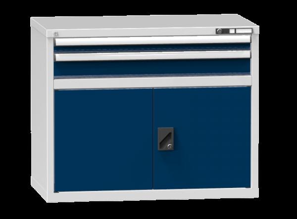 Schubladenschrank - Standcontainer - 1+1 Schublade, 1x Tür 550 - 840x1037x600 mm (HxBxT)