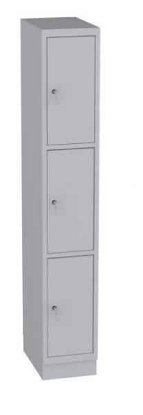 Schließfachschrank - 1 Abteil - 3 Fächer - 1950x320x480 mm (HxBxT)