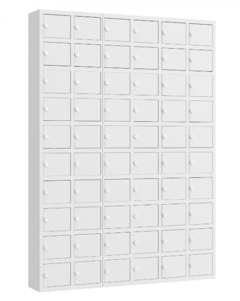 Wertfachschrank mini - stehend oder hängend - 6 Abteile - 60 Fächer - 1530x1110x200 mm (HxBxT)