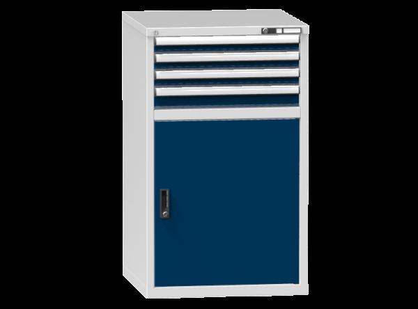Schubladenschrank - Standcontainer - 3+1 Schublade, 1x Tür 800mm - 1215x731x753 mm (HxBxT)