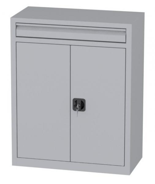 Büroschrank mit Schublade - 2 Einlegeböden - 1000x800x400 mm (HxBxT)
