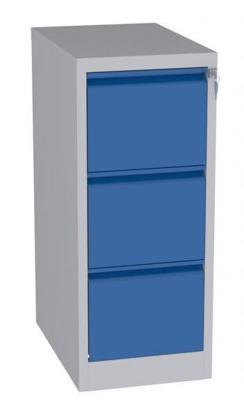 Karteischrank - 3 Schubladen - 995x415x630 mm (HxBxT) - Hängeregister A5 - senkrecht - 2 Reihen