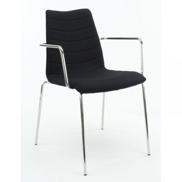 Konferenzstuhl mit Armlehnen - gepolstert - 470/870 x 540 x 510 mm (HxBxT)