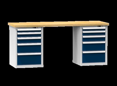 Arbeitstisch KOMBI 800 - 2 + 2 + 2 + 2 + 2 Schubladen
