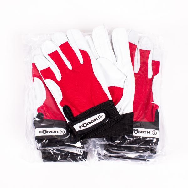 FÖRCH 12 Paar - Mechanikerhandschuhe aus Nappaleder soft - Größe 10