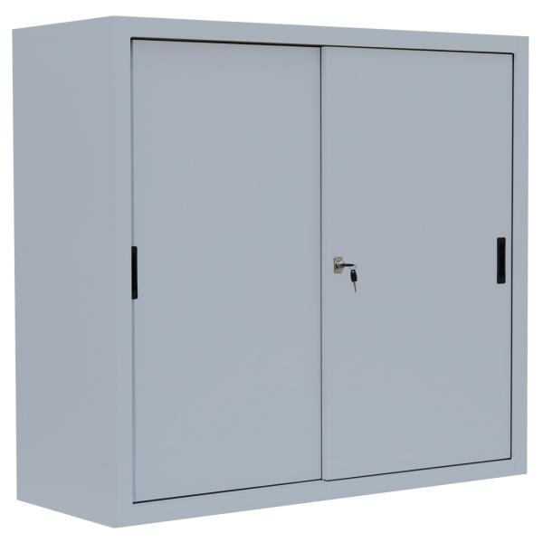 Schiebetürenschrank - 2 Einlegeböden - 1090x1200x450 mm (HxBxT)