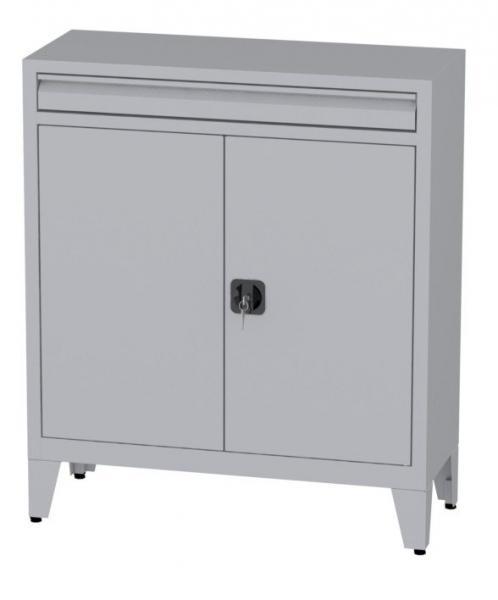 Büroschrank mit Schublade auf Füßen - 2 Einlegeböden - 1160x1000x400 mm (HxBxT)