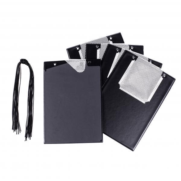 FÖRCH 5er Set Auftragstaschen Werkstattmappen A4 schwarz