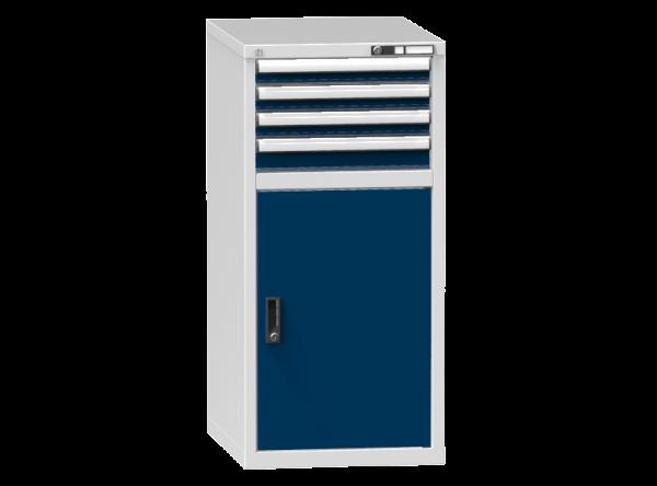 Schubladenschrank - Standcontainer - 3+1 Schublade, 1x Tür 800 mm - 1215x578x753 mm (HxBxT)