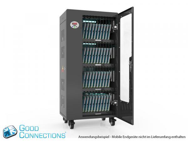 Tablet-Ladewagen für bis zu 40 Geräte - inkl. UV-C Desinfektion und Smart Control