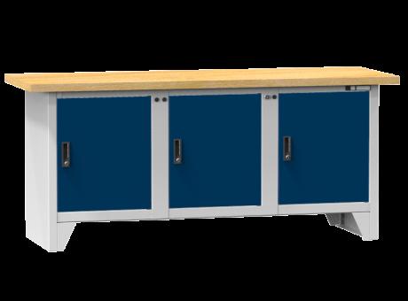 Modulare Werkbank PS2-5/5M - 3 Türen, 3 Fachböden