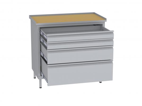Werkstattschrank, niedrig - 1 + 1 + 2 Schubladen - 850x900x505 mm (HxBxT)