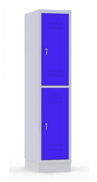 Garderobenschrank - 1 Abteil - 2 Fächer - Grundschule - 1500x320x480 mm (HxBxT)