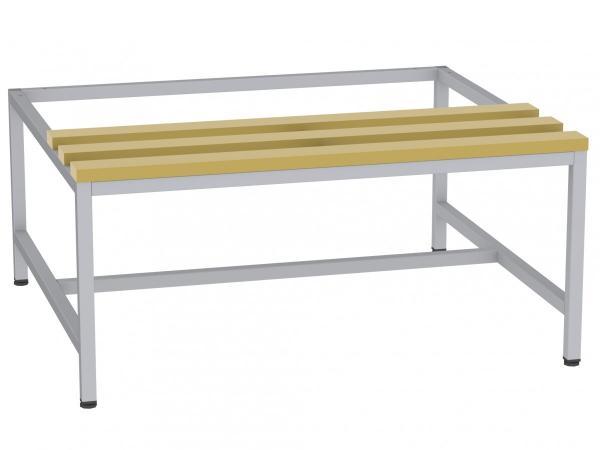 Sitzbank mit Holzlatten - zum Schrank SU300/3 - 395x900x770 mm (HxBxT)