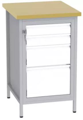 Bohrmaschinentisch - 1 + 1 + 2 Schubladen - 880x550x600 mm (HxBxT)