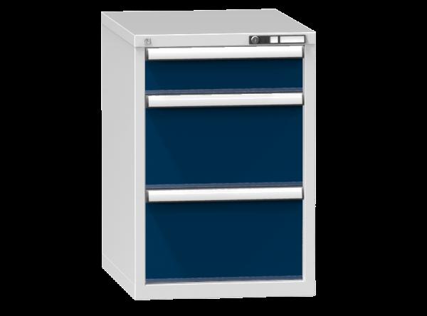Schubladenschrank - Standcontainer - 1+2 Schublade - 840x578x753 mm (HxBxT)