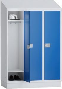 PREMIUM - Spind für die Grundschule - 3 Abteile - 1500x1075x500 mm (HxBxT)