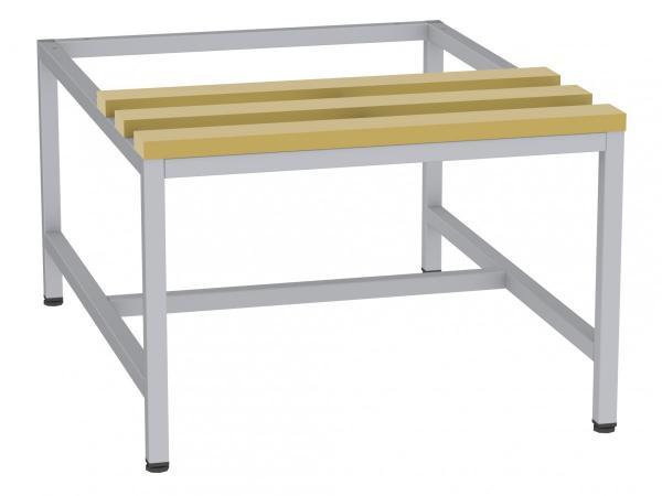 Sitzbank mit Holzlatten - zum Schrank SU300/2 - 395x610x770 mm (HxBxT)