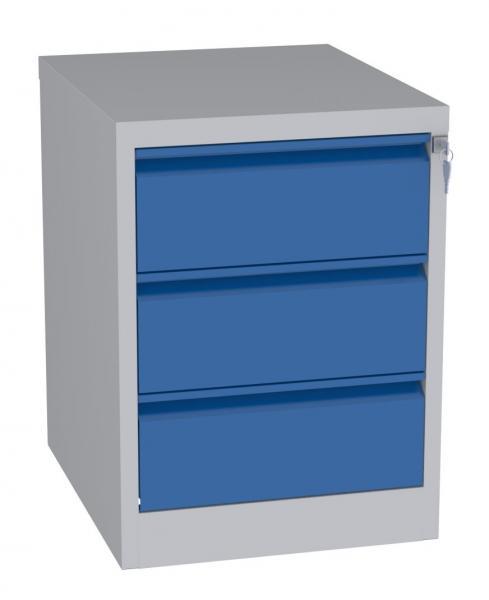 Karteischrank - 3 Schubladen - 710x525x630 mm (HxBxT) - Hängeregister A5 - waagerecht - 2 Reihen