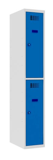 Garderobenschrank - 1 Abteil - 2 Fächer - 1800x300x500 mm (HxBxT)