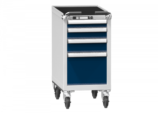 Mobile Container - Rollcontainer - 1+1+1+1 Schublade - 910x442x753 mm (HxBxT)
