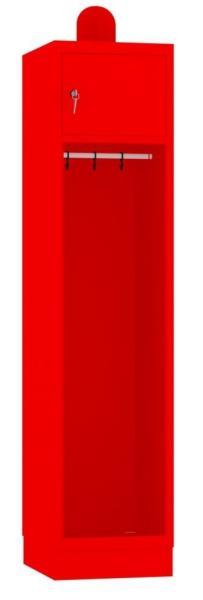 Spind, Feuerwehrschrank - 1 Abteil - 1950x420x480 mm (HxBxT)