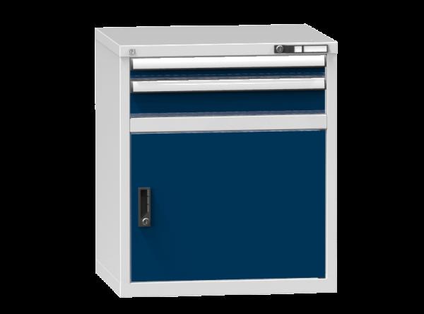 Schubladenschrank - Standcontainer - 1+1 Schublade, 1x Tür 550 mm - 840x731x600 mm (HxBxT)