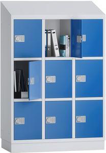 PREMIUM - Schließfachschrank Grundschule - 3 Abteile - 9 Fächer - 1500x1075x500 mm (HxBxT)